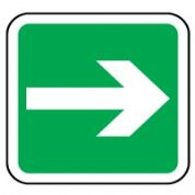 Safe Safety Sign - Arrow Right 037